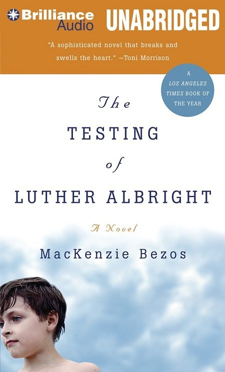 The cover of 'The Testing of Luther Albright' with a boy's head on the cover.