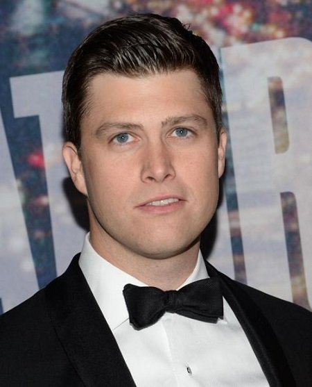Headshot of Colin Jost wearing a bowtie. Finance of Scarlett Johansson has a net worth of $6 million.