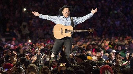 Garth Brooks performs at the Notre Dame Stadium. October 2008.