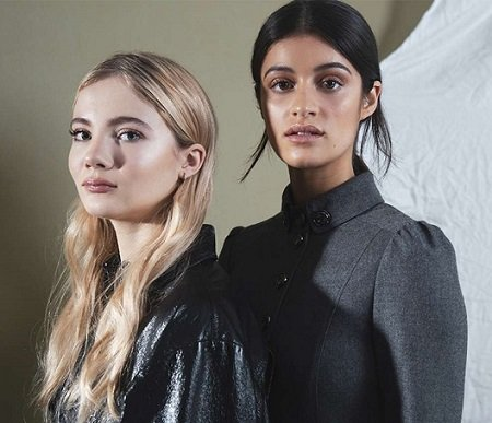 Anya Chalotra and Freya Allan side by side.