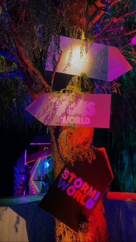 Directions to the three world inside StormiWorld 2.