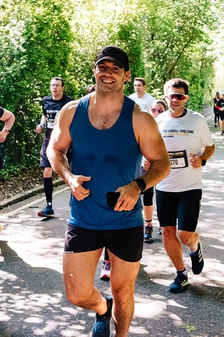 Henry Cavill during the Durrell Challenge in 2019.