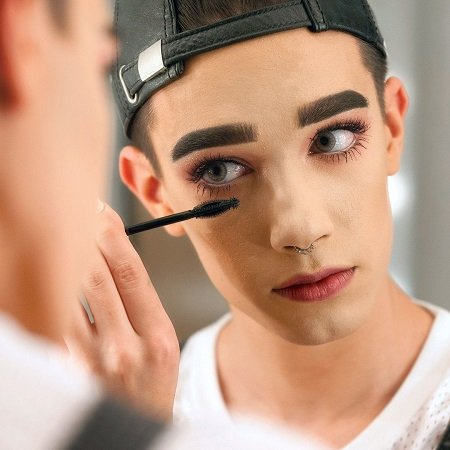 James Charles in the CoverGirl feature.