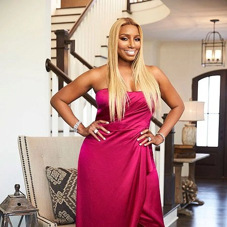 NeNe Leakes in a pink gown.