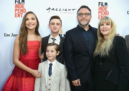 "(L-R) Actor Maddie Ziegler, actor Jacob Tremblay (foreground), actor Jaeden Lieberher, director Colin Trevorrow and singer-songwriter Stevie Nicks attend the opening night premiere of Focus Features' ""The Book of Henry"" during the 2017 Los Angeles Film Festival at Arclight Cinemas Culver City on June 14, 2017 in Culver City, California."