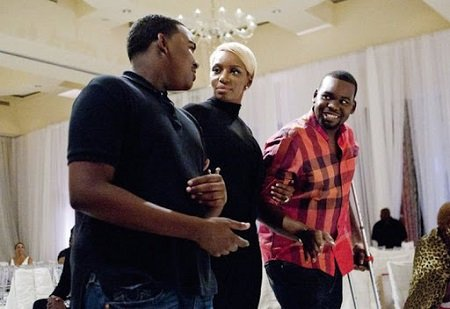 NeNe Leakes and her two sons Bryson and Brentt.