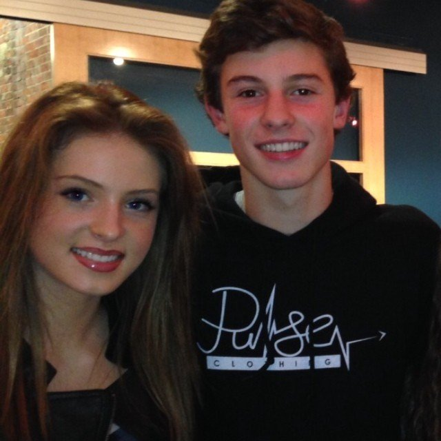 Saxon Sharbino and Shawn Mendes.