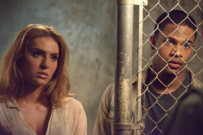 Saxon Sharbino and Melvin Gregg in a scene from 'Freakish'.