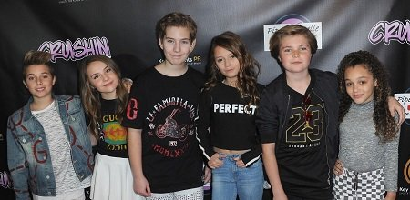 "Gavin Magnus, Piper Rockelle, Sawyer Sharbino, Sophie Fergi, Hayden Haas and Corrine Joy arrive for Gavin Magnus Video Release For ""Crushin"" And Celebration Of 1 Million YouTube Followers For Piper Rockelle on February 11, 2019 in Sherman Oaks, California."