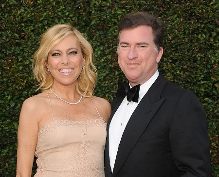 Sutton Stracke (L) and ex-husband Christian Stracke attend the 2015 MOCA Gala presented by Louis Vuitton at The Geffen Contemporary at MOCA on May 30, 2015, in Los Angeles, California.