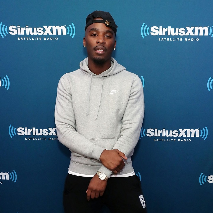 NEW YORK, NY - APRIL 24: Rapper Hitman Holla poses for photos during the Nick Cannon and Ncredible Gang performance on SiriusXM's Hip Hop Nation on April 24, 2018 in New York City.