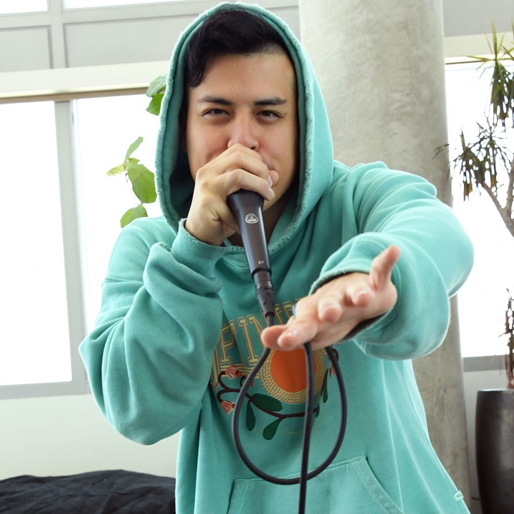 TikTok Beatboxer Spencer X poses At Home With TikTok's Spencer X on May 11, 2020 in Hollywood, California.