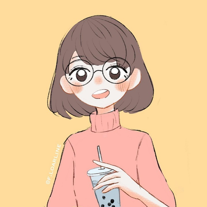 Faline San's first Instagram post on her Art page. An animated version of her she did herself.