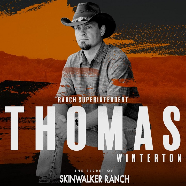 Thomas Winterton in a poster for himself on The Secret of Skinwalker Ranch.